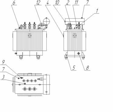 схема трансформатора ТМГ 250 кВА
